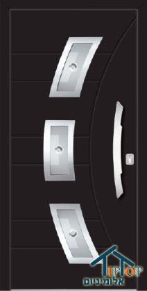 דלת עשויה אלומיניום