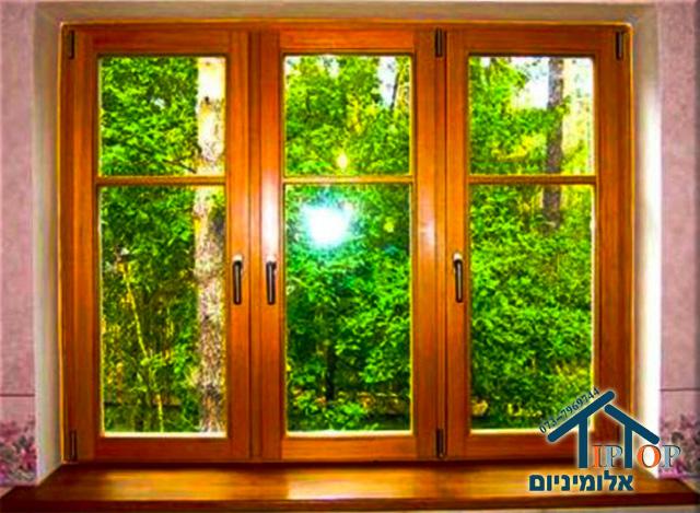 חלונות לבית מעץ מלא