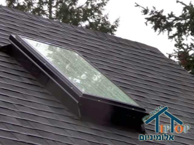 חלון גג מאלומיניום